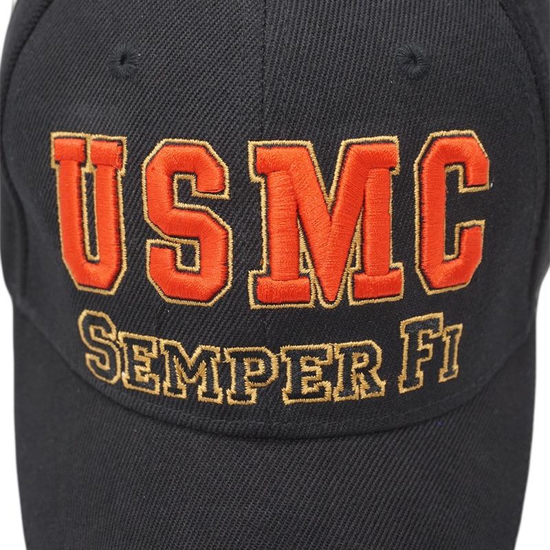New Men US Marine Baseball Cap Army USMC Tactical Cap Trucker Gorras Summer  Outdoor Casual SEMPER FI Embroidery Snapback Dad Hat-in Baseball Caps from  Men s ... 6e756c8c8bb6