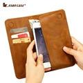 """Caso jisoncase para iphone 6 6 s 4.7 """"bolsa carteira para o iphone 6 plus 6 s plus 5.5"""" PU Slot para Cartão de Couro de Luxo Telefone Bags & Casos"""