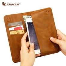 Jisoncase чехол для iPhone 6 S 7 4.7 «бумажник чехол для iPhone 6 Plus 6 S плюс 5.5 «искусственная кожа слот для карт Роскошный Чехлы для телефонов