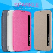 Nillkin Новый Кожаный Case-Искра Кожаный Телефон Case Для LG K10 С Будильником И Функцией Сна
