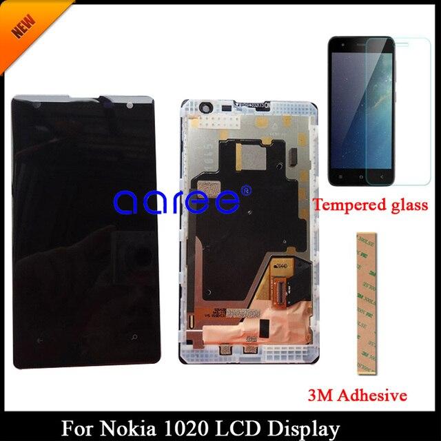 100% נבדק כיתה AAA LCD תצוגה עבור Nokia 1020 עבור Nokia 1020 תצוגת LCD מסך מגע Digitizer עצרת עם מסגרת