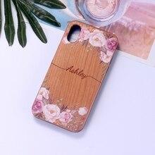 Индивидуальный винтажный Вишневый Дерево Цветочный ваше имя телефон Мягкий Бампер для iPhone 11 Pro Max XS Max XR X 7Plus 8Plus 7 8