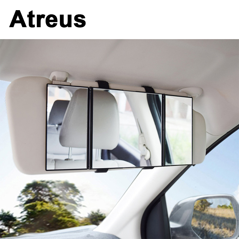 Atreus Foldable Makeup Rear View Sun Shade Baby Care Mirror For VW polo passat b5 b6 Mazda 3 6 cx-5 Toyota corolla Ford focus 2