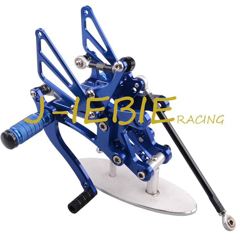 CNC Racing Rearset Adjustable Rear Sets Foot pegs Fit For Yamaha YZF R1 2004 2005 2006 BLUE titanium cnc aluminum racing adjustable rearset foot pegs rear sets for yamaha mt 07 fz 07 mt07 fz07 2013 2014 2015 2016