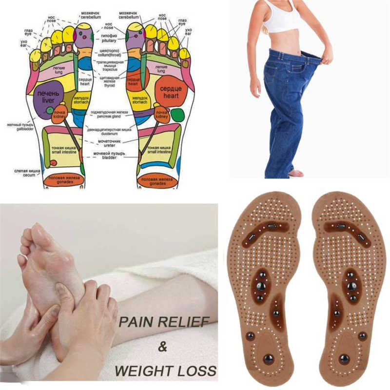 2018 New Fashion Women Men's Insoles Magnetic Massage Shoe Insoles Gel Pad Therapy Acupressure Foot Care Cushion Insoles