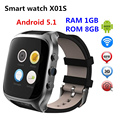 2017 X01S Android 5.1 OS Smart Watch phone Resolution 320*320 Support Single SIM Card Micro Card GPS WIFI PK X01 PLUS KW88 DM368
