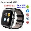 2017x01 s android 5.1 os smart watch phone resolução 320*320 suporte único Cartão SIM Micro Cartão GPS WI-FI PK X01 PLUS KW88 DM368