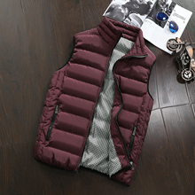 Mens Jacket Sleeveless Vest Winter Fashion Casual Slim Coats Brand Clothing Cotton-Padded Men's Vest Men Waistcoat Big Size
