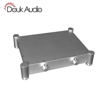 Nobsound Silver Hi-End Aluminum Enclosure Pre-Amplifier Chassis DIY Case W430*H84*D430 mm
