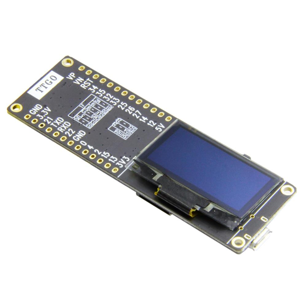 TTGO T-Eight ESP32 SH1106 1 3 Inch OLED Display IPEX 3D Antenna 4MB SPI  Flash Psram Packet Monitor ESP32-WROVER Micropython