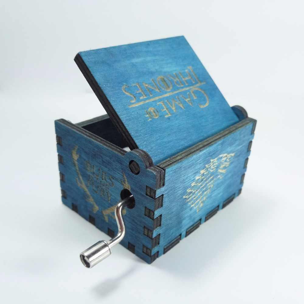 Fatti a mano in legno antico game of thrones music box, regalo Di Natale, regalo di nuovo anno, regalo di compleanno