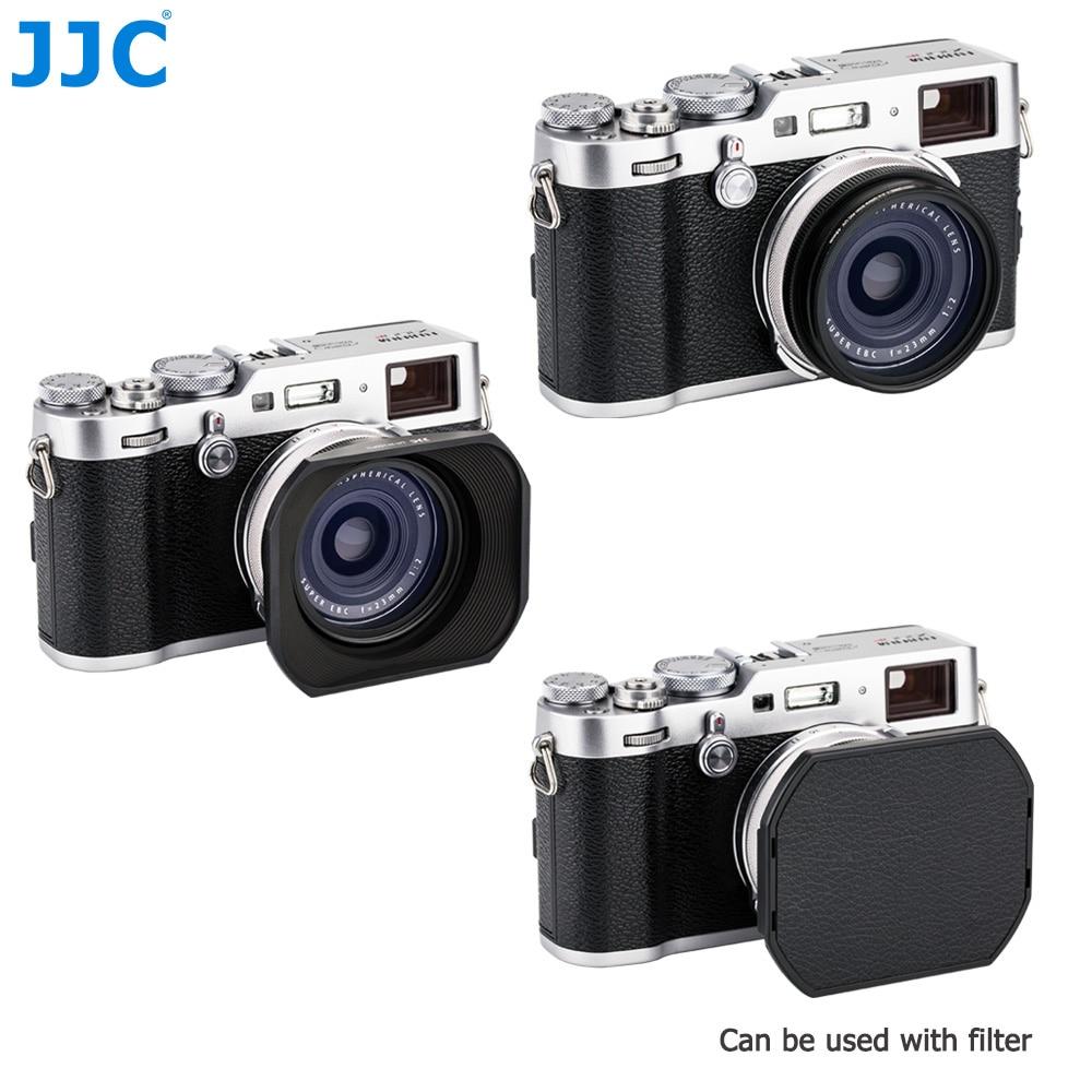 Jjc parasol compatible con fujifilm lh-x100 /& ar-x100 lh-jx100fii plata