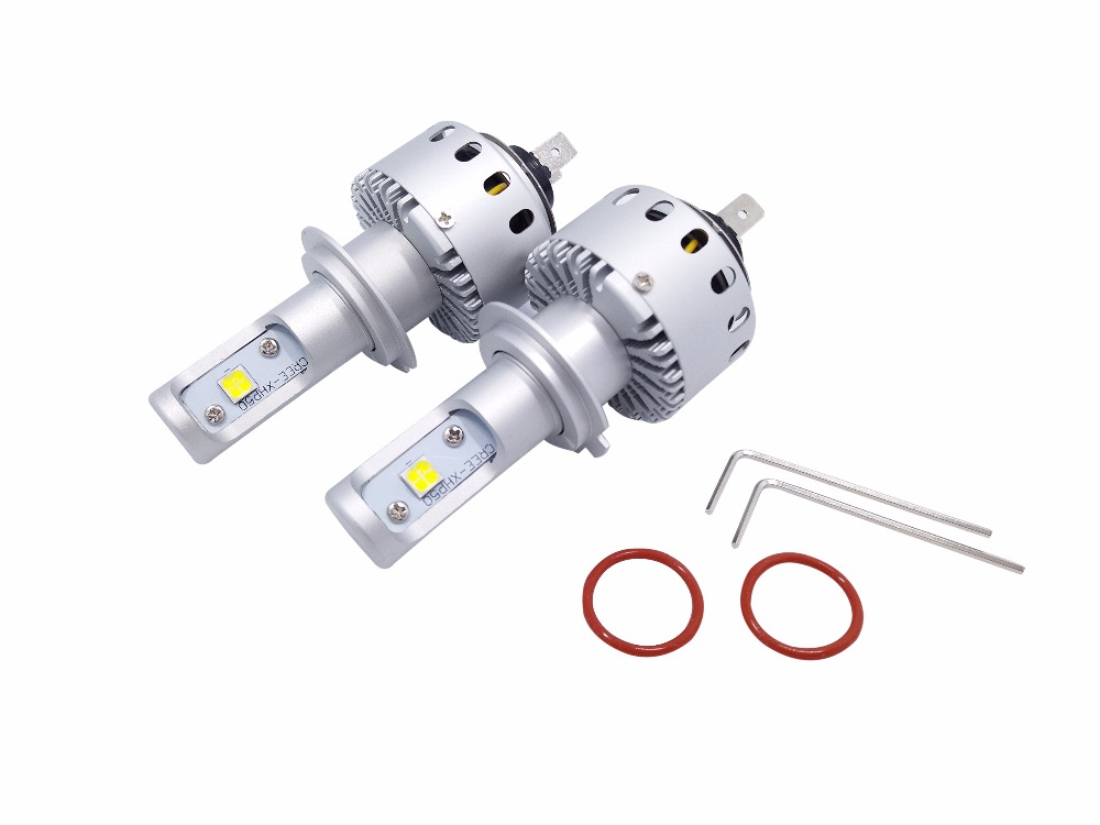 US $48 0 20% OFF|7S Universal H7 Cree XHP 50 Led Chips Car Auto LED  Headlight DRL Fog All in one Kit For VW Ford Toyota Audi Lexus BMW  Chevrolet-in