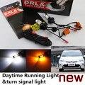 Гепард Бесплатная доставка для Toyota 2008-2014 Prius Prius LED DRL Дневного Света и сигнала поворота света все в один большой мощности