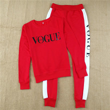 NiceMix 2019 autumn winter women tracksuit vogue letter two piece set clothing sportswear suit woman hoodies costumes new