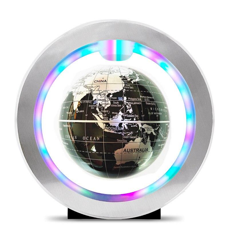 Sept couleurs lampe lévitation magnétique Globe flottant carte du monde Anti-gravité terre Globe LED lumière décoration de la maison cadeau d'anniversaire