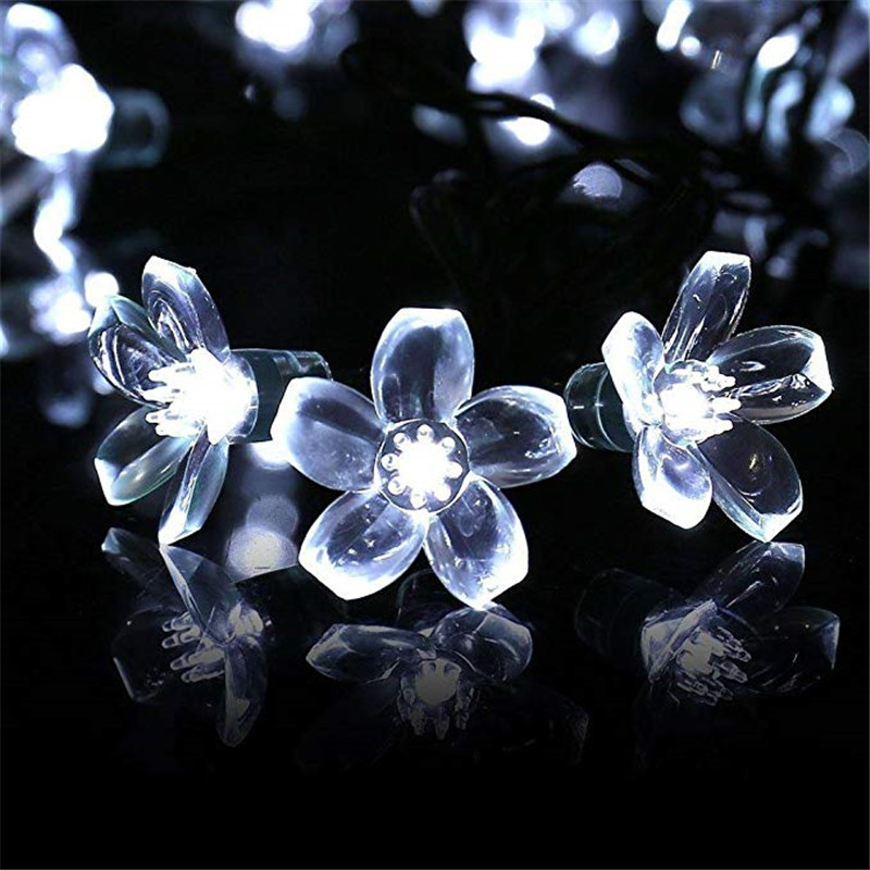 10M Solar Garden Lights LED String Light Outdoor Lighting Waterproof Flower Garland For The Street Lawn Patio Decoration Festoon