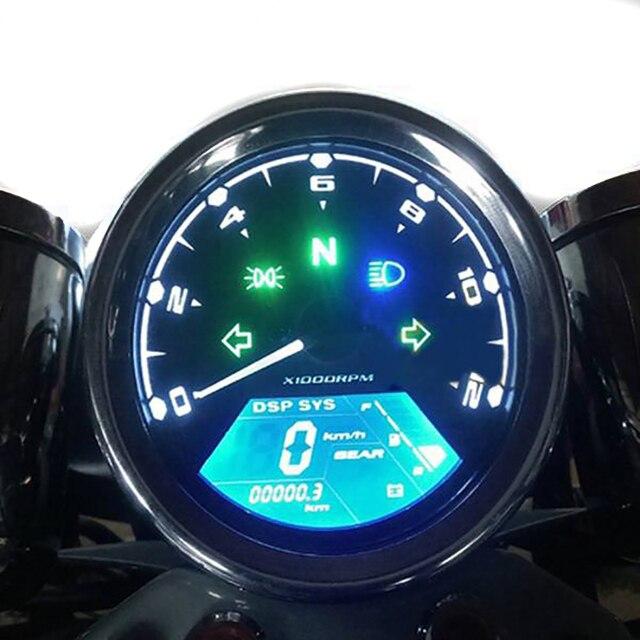 Universal Motorcycle Lcd Digital Speedometer Odometer Backlight Motorcycle Odometer for 1 2 4 Cylinders Waterproof