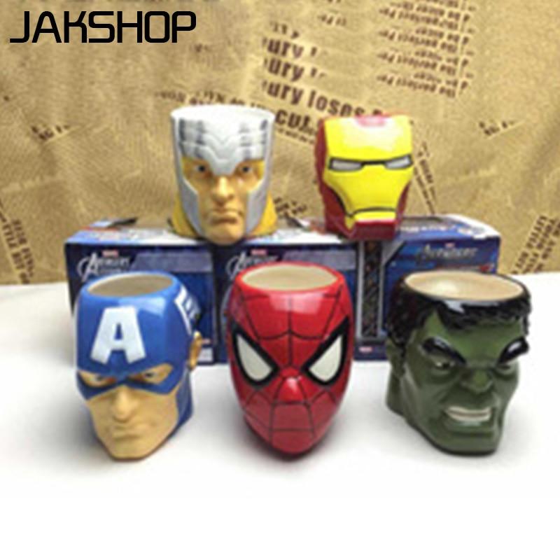 Green Creeper Face Mug 3d Spiderman Mugs The Avengers