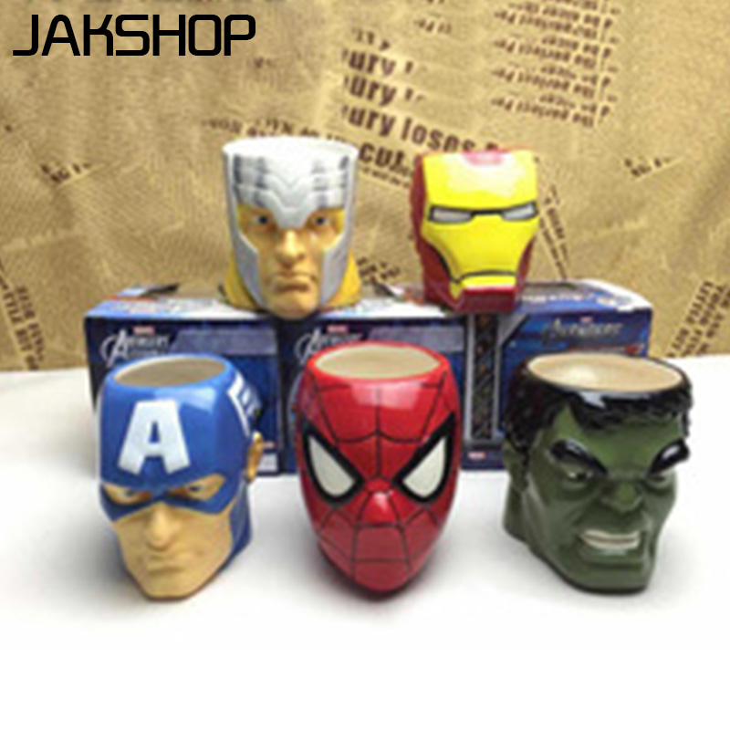Green Creeper <font><b>Face</b></font> <font><b>Mug</b></font> 3D <font><b>Spiderman</b></font> <font><b>Mugs</b></font> the Avengers <font><b>Ceramic</b></font> Cup Superman <font><b>Ceramic</b></font> Coffee Cup and Tea <font><b>Mugs</b></font> <font><b>Spiderman</b></font>