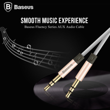 De Baseus 1.2 m 3.5mm Cable Aux Jack 3.5mm Macho a Macho Conector del Cable de Audio Para Coche Altavoz Auricular Auriculares MP3 MP4 Ordenador