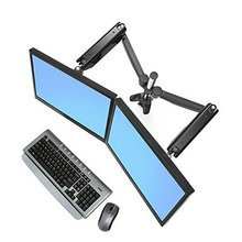 "Suptek Dual Arm Full Motion LCD Stand Desk Mount for 10""-30"" Samsung/lg/hp/aoc/dell/asus/acer Computer Monitor with Gas Spring"
