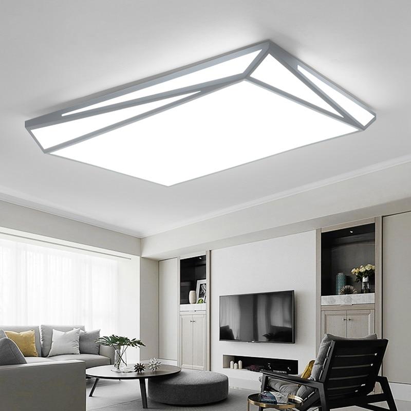 Здесь продается  Modern minimalist white iron LED ceiling lamp Nordic room warm bedroom geometric acrylic square LED ceiling light  Свет и освещение