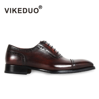 2018 New Superstar Handmade Vintage Mens Oxford Shoes Hot Genuine Leather Wedding Party Dress Meeting Office