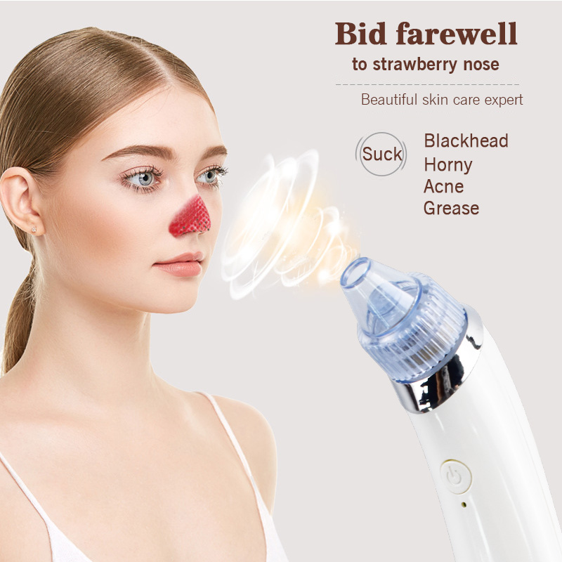 Facial Pore Cleaner Vacuum Blackhead Remover Face Nose Acne Comedo Suction Spot Remove Skin Care Beauty Facial Massage Device original package electric facial pore cleanser blackhead suction acne remover removal 2 in 1 facial steamer spray moisturizer