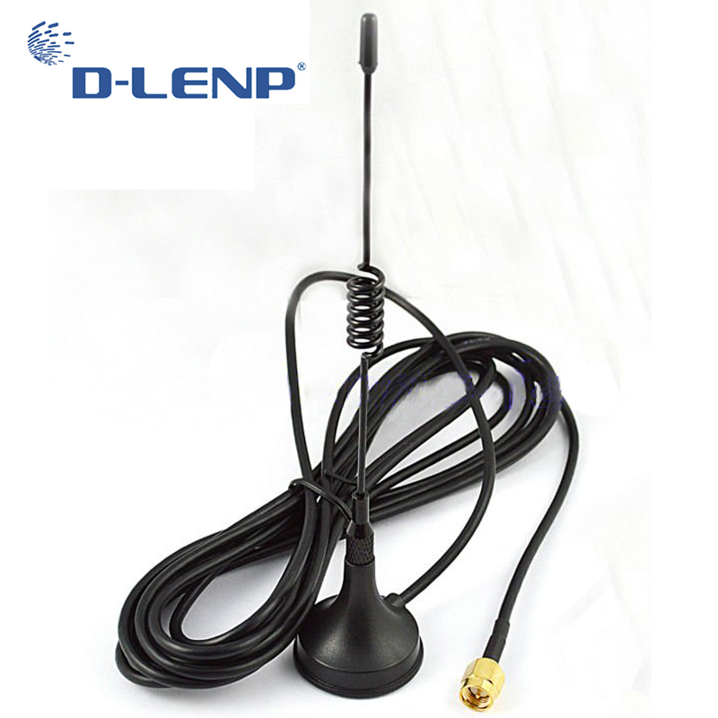 Dlenp 433Mhz 5dbi Antenna 433 MHz GSM antenna SMA Male Connector w/ Magnetic base for Ham Radio Signal Booster(China)