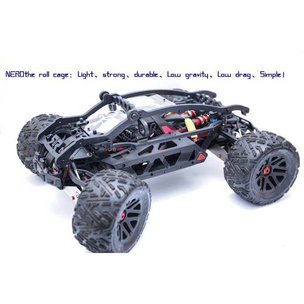 Nylon Roll Cage For ARRMA NERO RC Car Body Protection Anti Collision Roll Cage Bar NERO Nylon Frame Shell Protection Cover