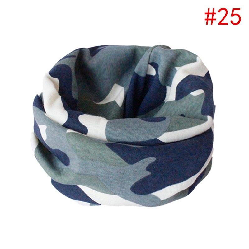 Детский хлопковый шейный шарф с милым принтом; детский теплый шарф; Детские воротники; осенне-зимний шарф-кольцо для мальчиков и девочек; аксессуары для детской одежды - Цвет: No.25