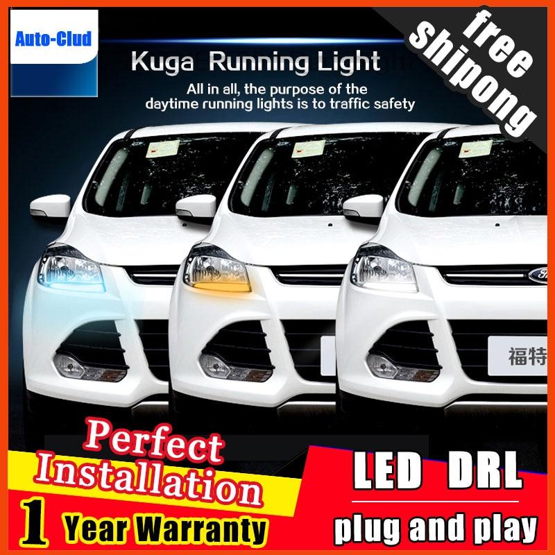 Car Styling LED Fog Lamp for Ford Kuga DRL 2013 2015 Escape COB Signal DRL Running Light Fog Light Parking 2 function
