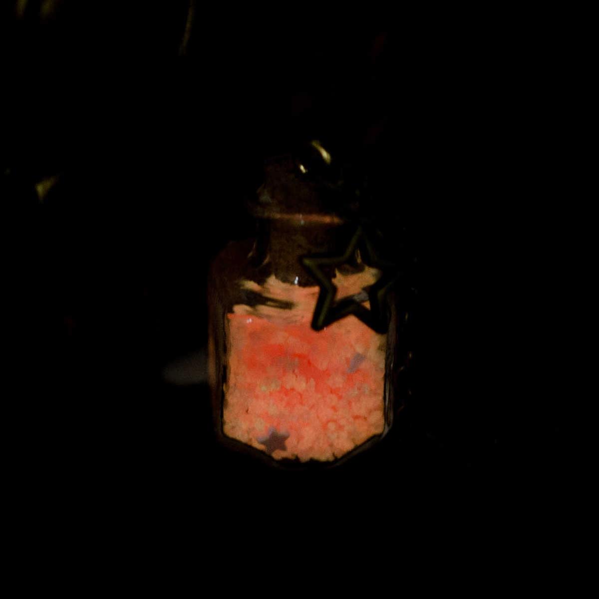 Steampunk Glow In the Dark Luminoso Pietra Medaglione Che Desiderano Bottiglia Del Pendente Del Choker Mermaid Collana Collares Choker Dei Monili