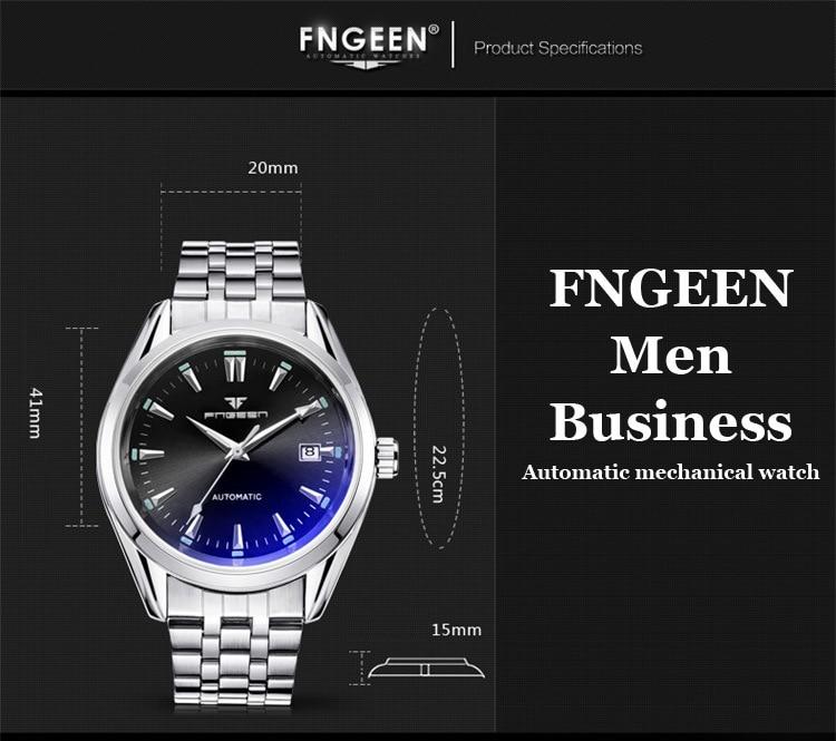 HTB1T4OzX8Cw3KVjSZR0q6zcUpXav 2019 Mens Wrist Watch Top Brand Luxury Watches Male Luminous Calendar Waterproof Stainless Steel Automatic Mechanical Wristwatch