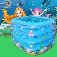 Inflatable Baby Play Pool Portable Cartoon 4layers Children Splashing Ocean Balls Sand Tub Baby Swimming Pool Kids Bathtub