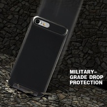 Bumblebee Slim Armor Soft Back Cover PC+TPU Neo Hybrid Case for iPhone 5 5S SE / 6 6S 4.7