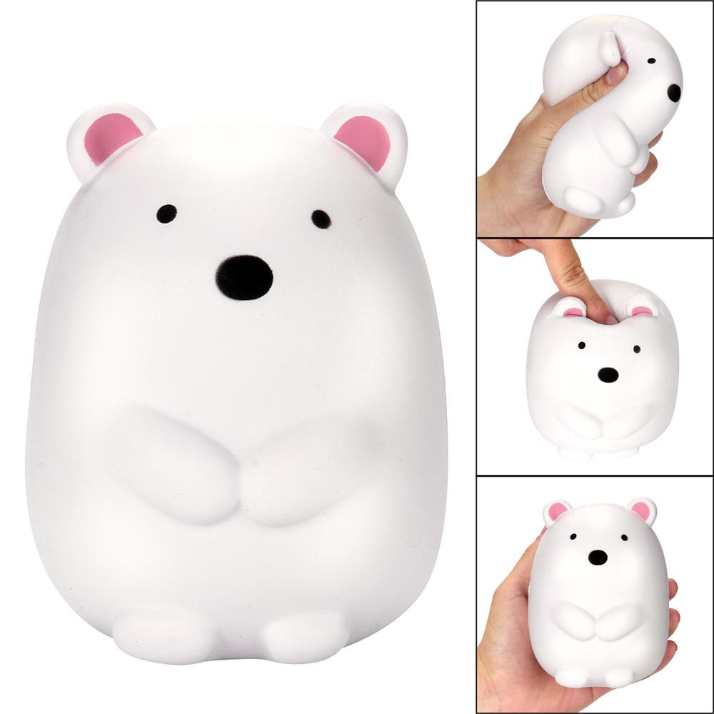 Мягкие мягкими болотистый белый медведь милые забавные игрушки Polar Bear выжать стресса альтернатива Юмористические свет сердцем декомпресси...