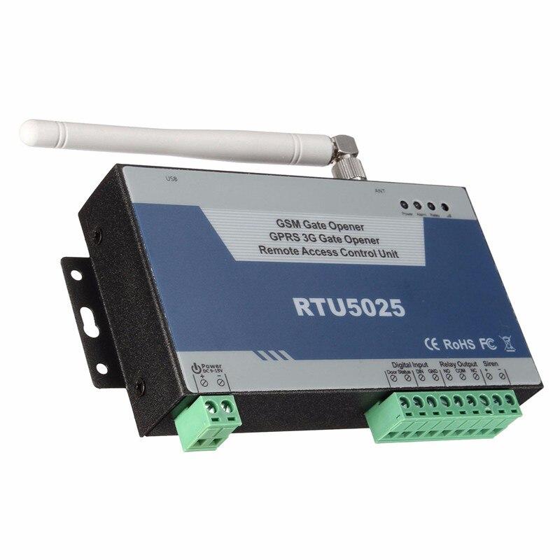 Abridor de puerta GSM GPRS 3G (RTU5025) Unidad de Control de acceso remoto 999 usuarios Puerta Abierta/barrera/obturador/puerta de garaje