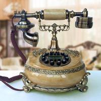 Европейские антикварные Античная Ретро мода сад телефон украшения дома арт телефон Идентификатор вызывающего абонента с подсветкой в стил