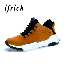 Купить с кэшбэком Ifrich New Casual Brand Men Shoes Yellow Red Men Walking Shoes Wearable Male Fashion Sneakers Comfortable Flats Footwear for Men