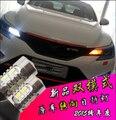 2 pcs Novo 1156 BAU15S Ba15s T20 7440 3156 LED DRL Turno luz branco + cor Âmbar Car Daytime Running Luz com Sinal de Volta Luz