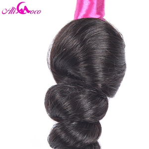 Image 5 - Tissage en lot naturel Non Remy Ali Coco Hair, cheveux 100% naturels, Loose Wave, noir naturel, 4 pièces/lot, peuvent être teintées