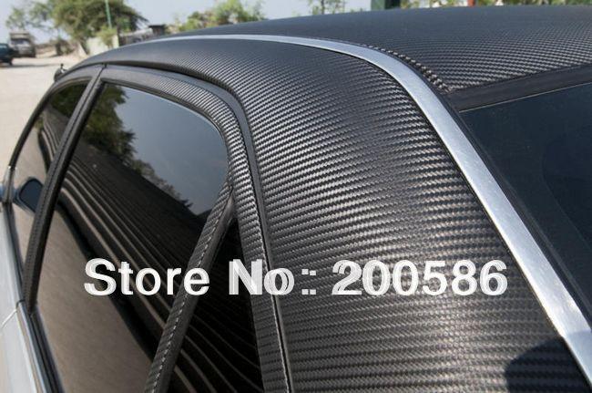 4D glänzend Kohlefaser Vinyl Folie texturiert für Auto Luft//Blasen frei