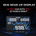 Nueva Llegada 5.5 ''multicolor Diseño Pantalla Head Up Display HUD Brújula GPS Del Coche Sistema de Seguridad Del Vehículo sobre Alarma de la Velocidad