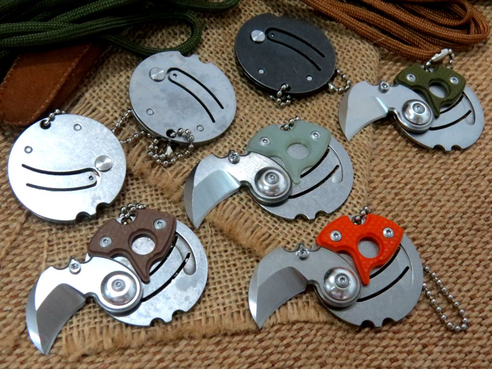 Newest design Coin folding font b knife b font 9Cr18MoV blade G10 or carbon fiber steel
