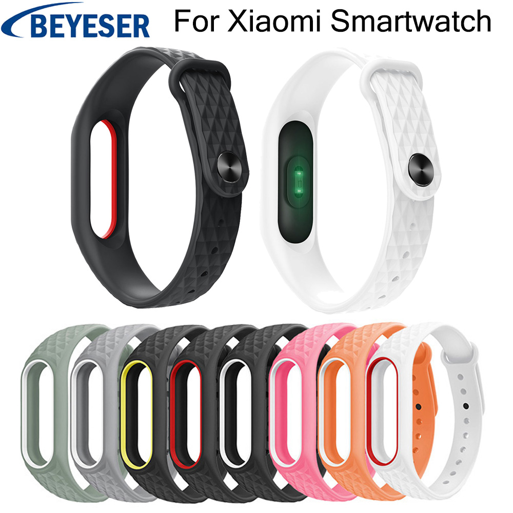 Bracelet Watchbands For Xiaomi Mi Band 2 Silicone Wriststrap Replacement Watchstrap For Xiaomi Mi Band 2 Rubber Sport Watchbelt