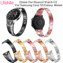 22mm Aluminium Alloy sector bracelet For Samsung Gear S3/Galaxy 46mm Frontier/classic smart watch wristband for HUAWEI GT strap