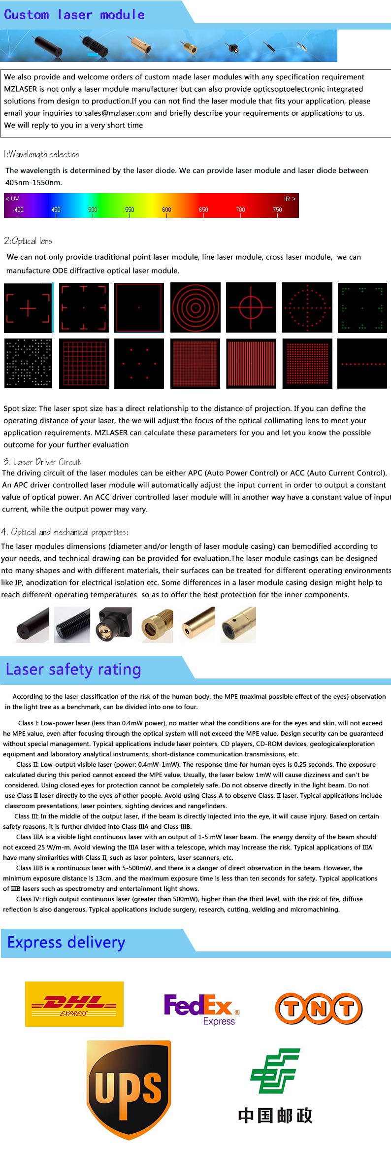 dot módulo laser APC unidade de controle módulo de laser Industrial
