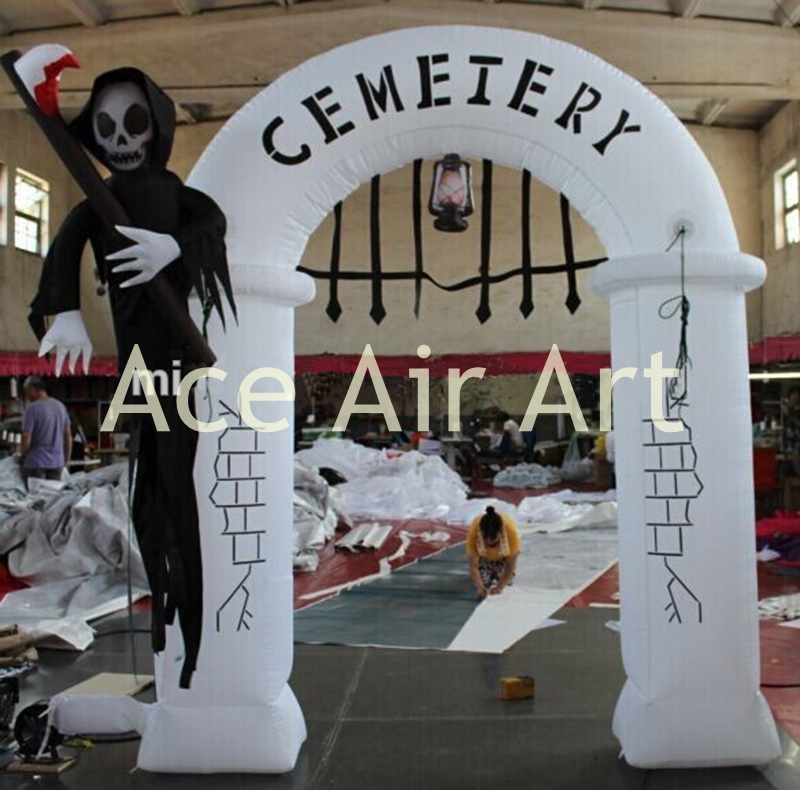 halloween yard decoration inflatable scary ghost archway decoration - Inflatable Halloween Yard Decorations